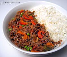 Cooking Creation: Cuban Ropa Vieja (Cuban Shredded Beef Stew)