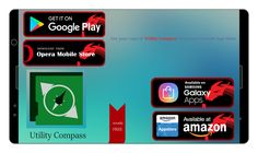 Download #Utility #Compass now on #Google play #GooglePlay     #Amazon App Store #Opera mobile store #Samsung #Galaxy Apps #Evtottav