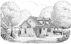 House Plan 90362 | Cottage   Country   Victorian    Plan with 566 Sq. Ft., 1 Bedrooms, 1 Bathrooms