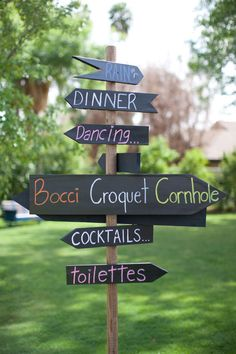 party signs. great for birthday party, wedding, dinner party...any kind of party!