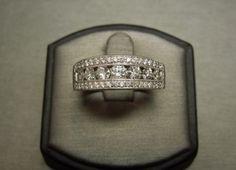 Vintage 14KT White Gold Diamond Wedding Band For Him 1.55TCW C1980