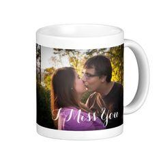 Romantic Gift Mug I miss you with custom photo