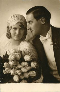 1920's couple on their wedding day