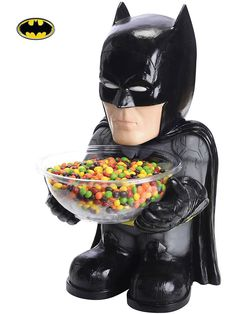 Batman Candy Bowl Holder! See more costume accessories at CostumeSuperCenter.com