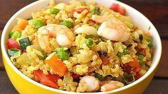 Рис, жареный с креветками