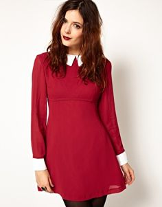 Pop Boutique Dress with Contrast Collar and Cuffs- my 60s dream dress!