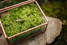 Caja vacía para alianzas metal cobre y por LovelyPenelopeParis