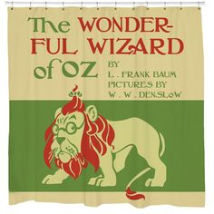 Shop for Sharp Shirter Wizard of Oz Shower Curtain. Get free delivery On EVERYTHING* Overstock - Your Online Shower Curtains & Accessories Store! Retro Bathroom Decor, Retro Bathrooms, Bathroom Ideas, Wizard Of Oz Lion, Colorful Shower Curtain, Bathroom Window Curtains, Curtain Accessories, Deep Pocket Sheets, Custom Shower Curtains