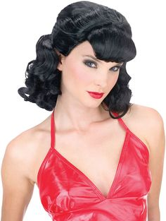 costume accessory: grease pink lady wig