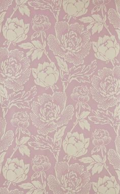 Background - Purple and white flowers Farrow & Ball Peony Wallpaper. Fabric Wallpaper, Wall Wallpaper, Pattern Wallpaper, Wallpaper Backgrounds, Iphone Wallpaper, Wallpapers, Farrow Ball, Textures Patterns, Print Patterns