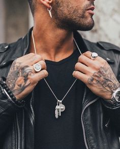Matt silver cross bunch : £25 Matt silver old English sovereign #fashion #men £18 White stone oval ring : £18 Hanging wing earring pack : £22 #chainedandable