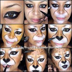 Amazing cheetah halloween look created by #makeupbybrittanym using #MotivesCosmetics!
