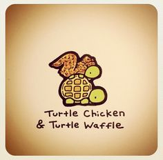 Turtle chicken and turtle waffle