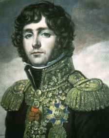 Eugene de Beauharnais was the son of Josephine wife of Napoleon (Napoleon's step son).  He was a general in Naploeons army and N gave him the territory of Naples (Eugene was the first viceroy of Italy).  Napoleon was forced to divorce Josephine because she could bear no more children - ironically, Napoleon's future heirs all died, and Eugene's bloodline went on to populate  the royal houses of Europe.