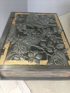 Pewter book box made by Kathy Harris