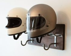 Esta inspirado en barra de la mariquita de la motocicleta casco/colgador es mano…