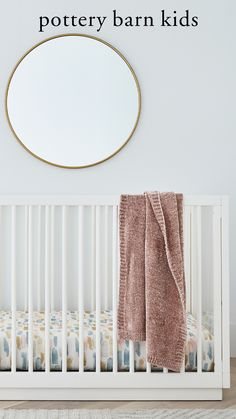 Add a splash of artistic flair to their nursery. This watercolor-inspired fitted crib sheet is sweet, stylish and perfect for adding some color and whimsy to their room.
