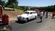 Uma ambulancia Skoda branca - Marginal sem carros - Bombeiros