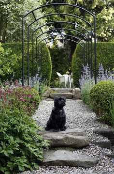 Frame Your Garden Vistas. Anchor your garden paths with metal arches | Photo Gallery: Gorgeous Gardens | House & Home