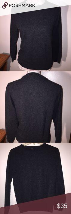 J.Crew merino wool crewneck longsleeve sweater J.Crew merino wool crewneck longsleeve sweater. In dark gray. Slim fit. In excellent condition. J. Crew Sweaters Crew & Scoop Necks