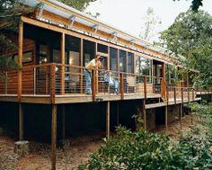 Deck and wood storage