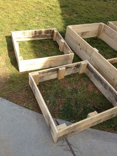 Raised Gardening Beds from Repurposed Wooden Pallets