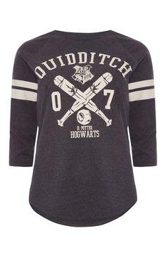 Primark - Harry Potter Quidditch Raglan T-Shirt