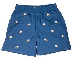 Ice cream embroidered swim shorts.