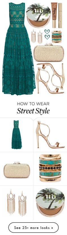 """street style"" by sisaez on Polyvore featuring Elie Saab, Aquazzura, Urban Decay, Too Faced Cosmetics, Stila and Pamela Love"