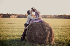 Love this couple's shoot! Country shots followed by glamour shots!