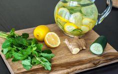 agua de jengibre pepino y limon para bajar de peso