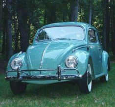 My first car - 1961 Volkswagen Beetle Color: Green. She was a real screamin' machine, she cruised the gut with style, she smelled like a Volkswagen and she died like one. My Dream Car, Dream Cars, Carros Vw, Vw Camping, Vw Vintage, Vw Cars, Buggy, Vw Beetles, Volkswagen Bus