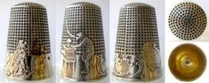 """The first thimble made in England was in 1695 by a Dutch metal worker named Lofting. It was called the """" thumb-bell,"""" because it was worn on the thumb when in use, and shapped like a bell. The shape eventually changed, but the name, softened into thimble, still remains."""