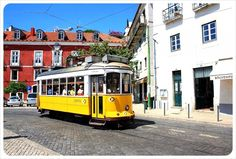 yellow tram lisbon portugal - 33 Things We Love About Lisbon, Portugal via Globetrottergirls  Lisbon turned out to be one of our favorite places so far on our travels, so after three weeks in the Portuguese capital, finding thirty-three things to shout out over the rooftops was easy!