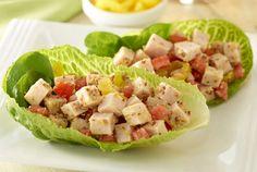 Turkey Lettuce Snack Wraps | turkey tacos | JennieO | http://www.jennieo.com/recipes/756-Turkey-Lettuce-Snack-Wraps