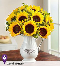 Pitcher Full of Sunflowers