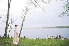 DIY wedding dress | Bit of Ivory Photography & Palette of Petals | see more on: http://burnettsboards.com/2014/05/disneys-maleficent-inspired-wedding/ #DIY #weddingdress