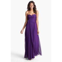 Jill Jill Stuart Draped Chiffon Dress Majestic Purple Size 2