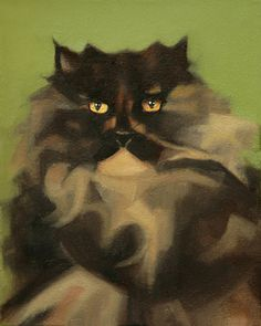 https://www.behance.net/gallery/6154417/The-lovers Ania Gubernat #painting #oil #canvas #cat