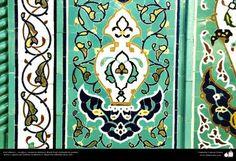 Arte islamico  Azulejos y mosaicos islamicos (Kashi Kari) realizados en paredes techos y cupulas del Instituto Academico Cultural Dar-alHadith Qom Iran   1