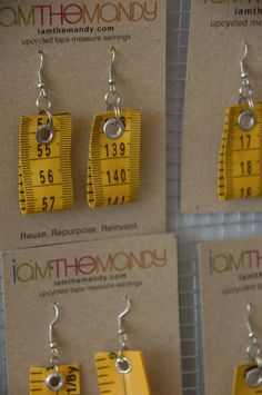 tape measure earings