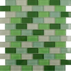 green and white tiles - Google Search