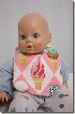 Lätzchen für die Puppe - Doll bib