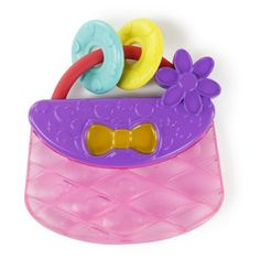 Bright Starts Pretty in Pink Carry Teethe Purse. The purchase of this product helps support the pink power mom program, benefiting breast cancer charities globally. Seven Month Old Baby, Baby Girl Toys, Girls Toys, Baby Girls, Pink Power, Baby Teethers, Teething Toys, Purses For Sale, Baby Rattle
