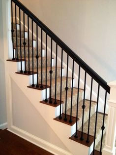 stairs with every other baluster - Google Search