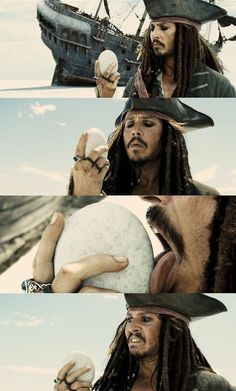 Pirates of the Caribbean: At World's End Casually licking a rock. That's Captain Jack Sparrow for you :) The Pirates, Pirates Of The Caribbean, Captain Jack Sparrow, Jack Sparrow Meme, Will Turner, On Stranger Tides, Film Anime, Pirate Life, Film Serie