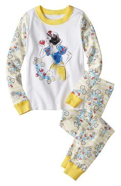Hanna Andersson 'Disney Princess - Snow White' Two-Piece Fitted Pajamas (Toddler Girls) available at #Nordstrom