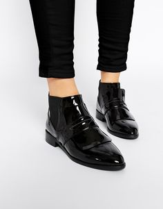 Image 1 ofASOS ACACIA Loafer Ankle Boots