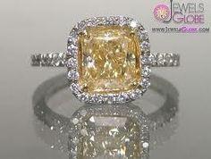 Vintage yellow wedding ring