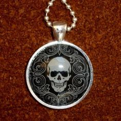 ODDITY Steampunk Victorian Freak Human SKULL anatomical pendant charm goth pendant Necklace Sugar Skull Day of the Dead Zombie tattoo biker by umbrellalaboratory. $12.99. ?~?~? Cute necklace you will fall in love with ! Great gift for everyone even yourself !?~?~? We present RARE bizarre necklace ! Pendant is roughly 1 diameter, chain is silver plated 24 . Necklace is going to be great addition for your pirate, steampunk , Victorian ,gothic ,witch.... Zombie Gifts or Zombie presents for that…